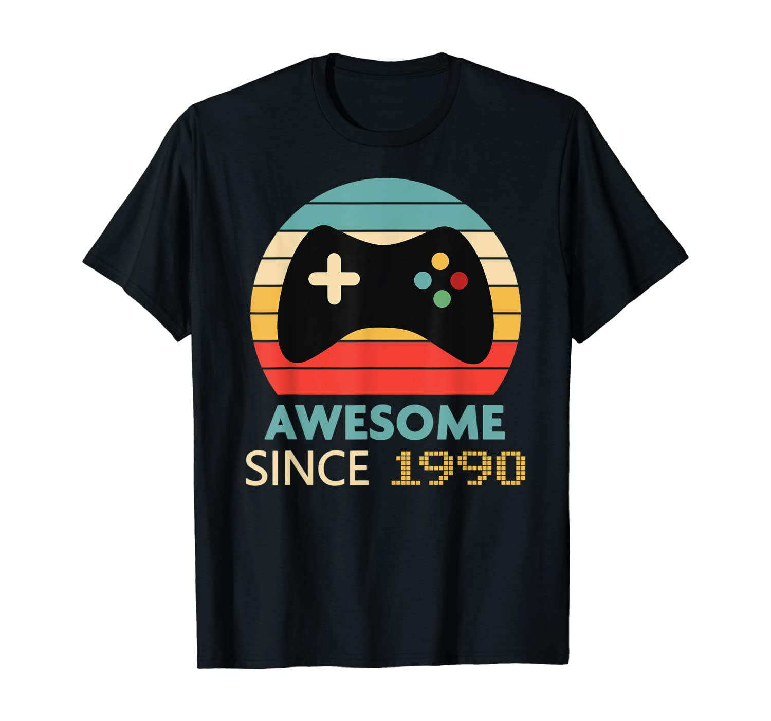 30th Birthday Gift - Awesome Since 1990 Video Game Gamer T-Shirt