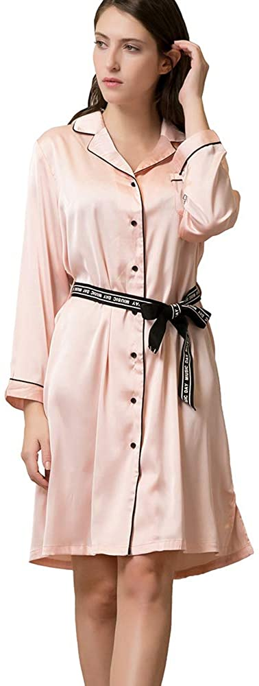 GUHUI Nightgown Button Down Nightshirt Pajama Top Sleepshirt Nightdress for Women