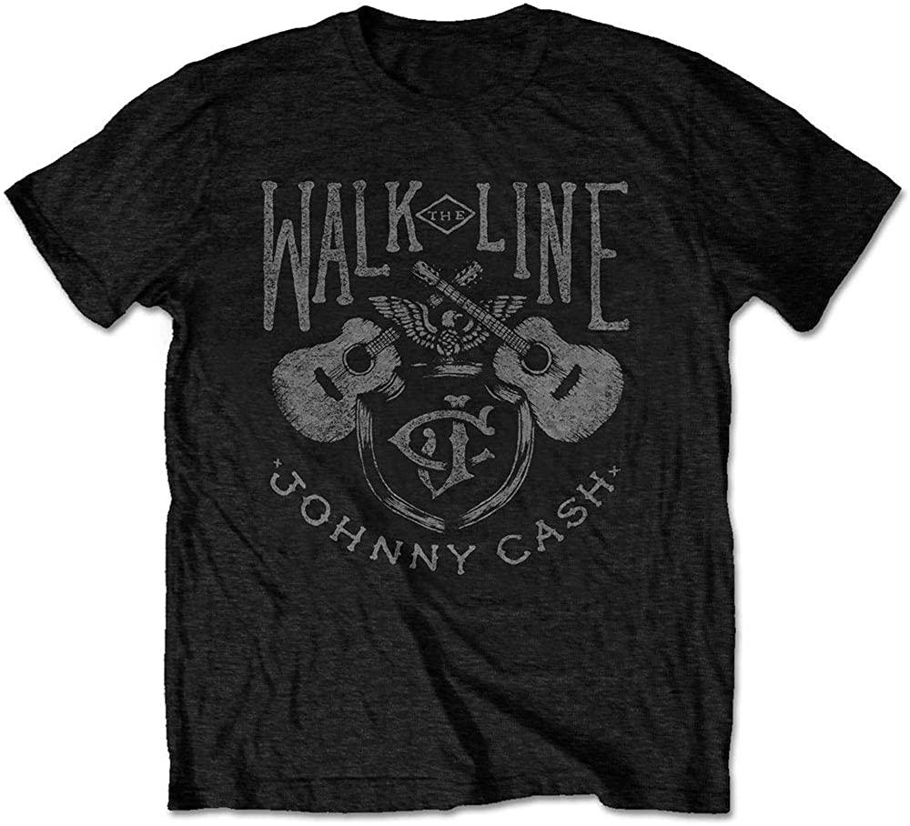 Johnny Cash T Shirt Walk The Line Official Mens Black