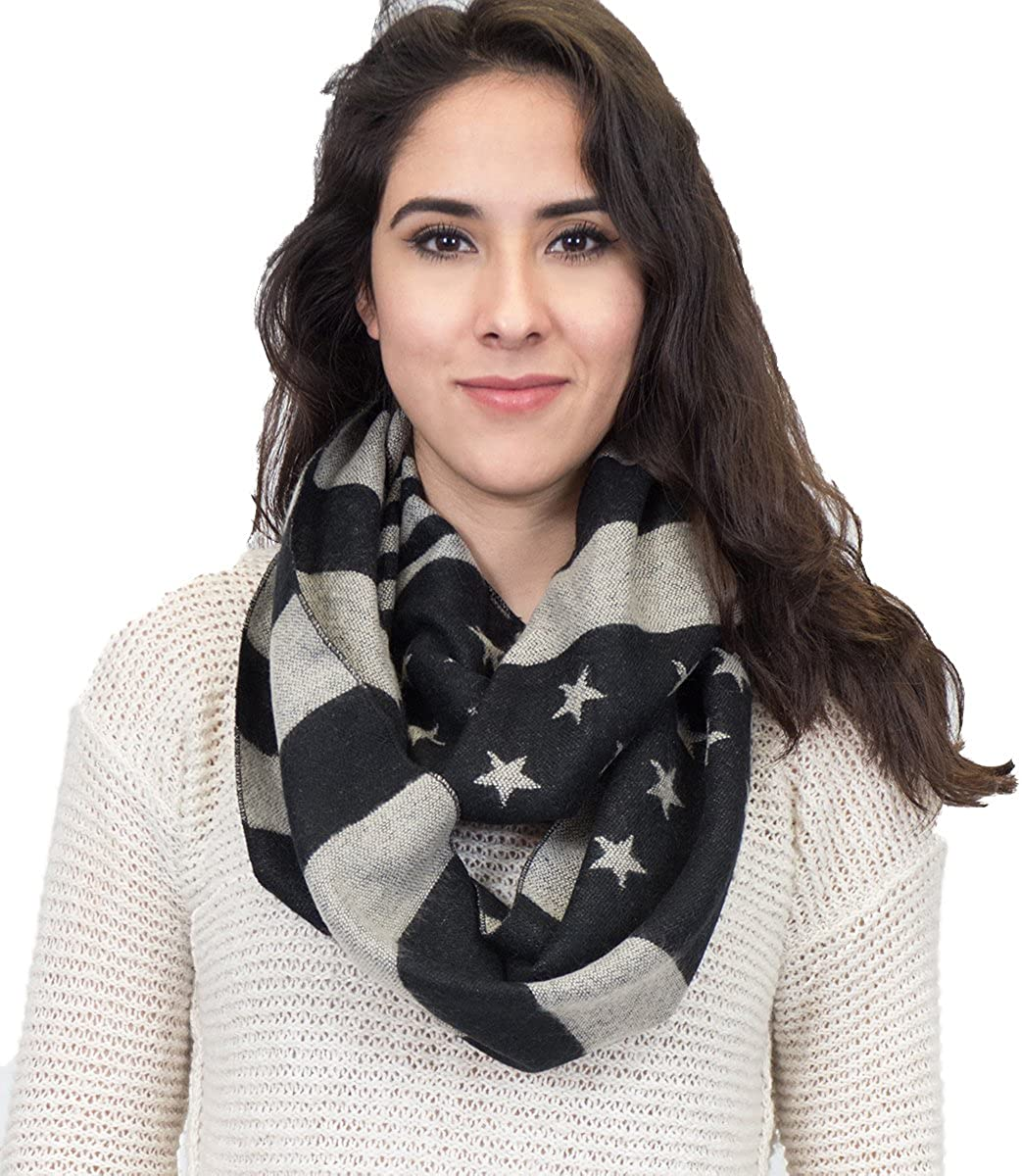 American flag infinity knit scarf