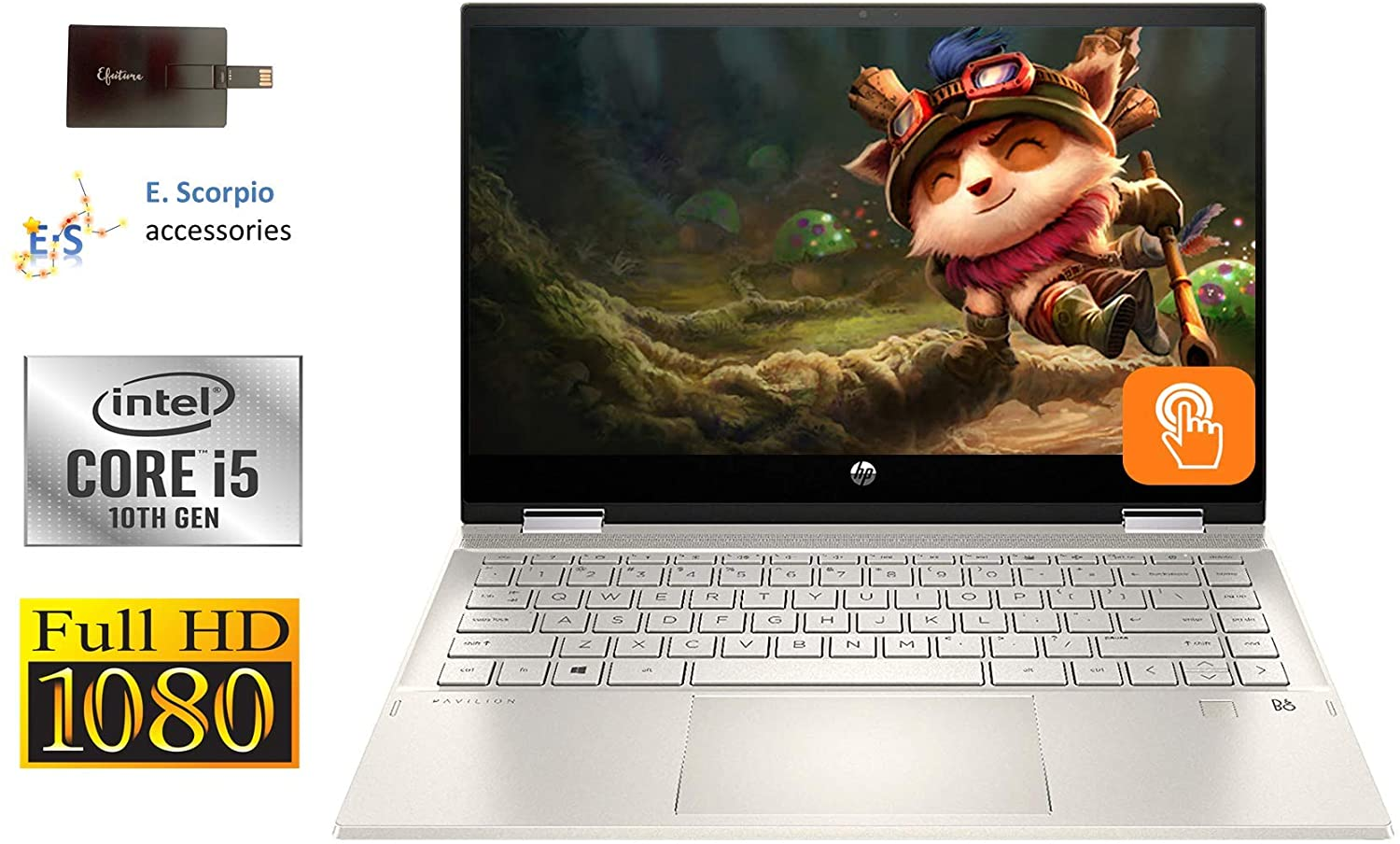 Newest 2020 HP Pavilion X360 14 2 in 1 Laptop, 14