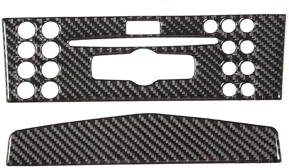 KIMISS 2PCS Car Navigation Panel Cover Trim Soft Real Carbon Fiber Fit for W204 05-12