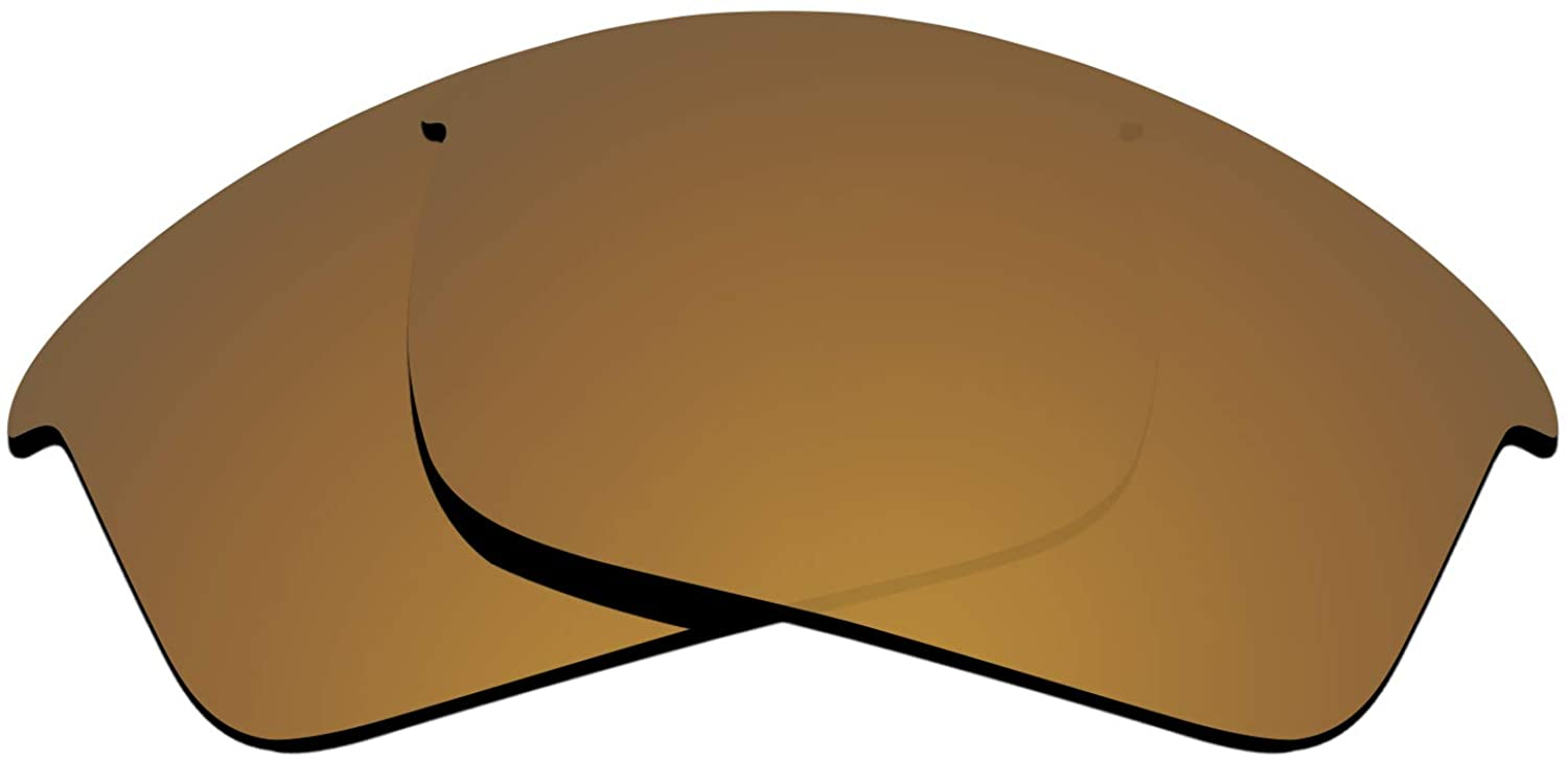 Glintbay Precise-Fit Replacement Sunglass Lenses for Oakley Bottle Rocket OO9164 - Polarized Bronze Gold Mirror