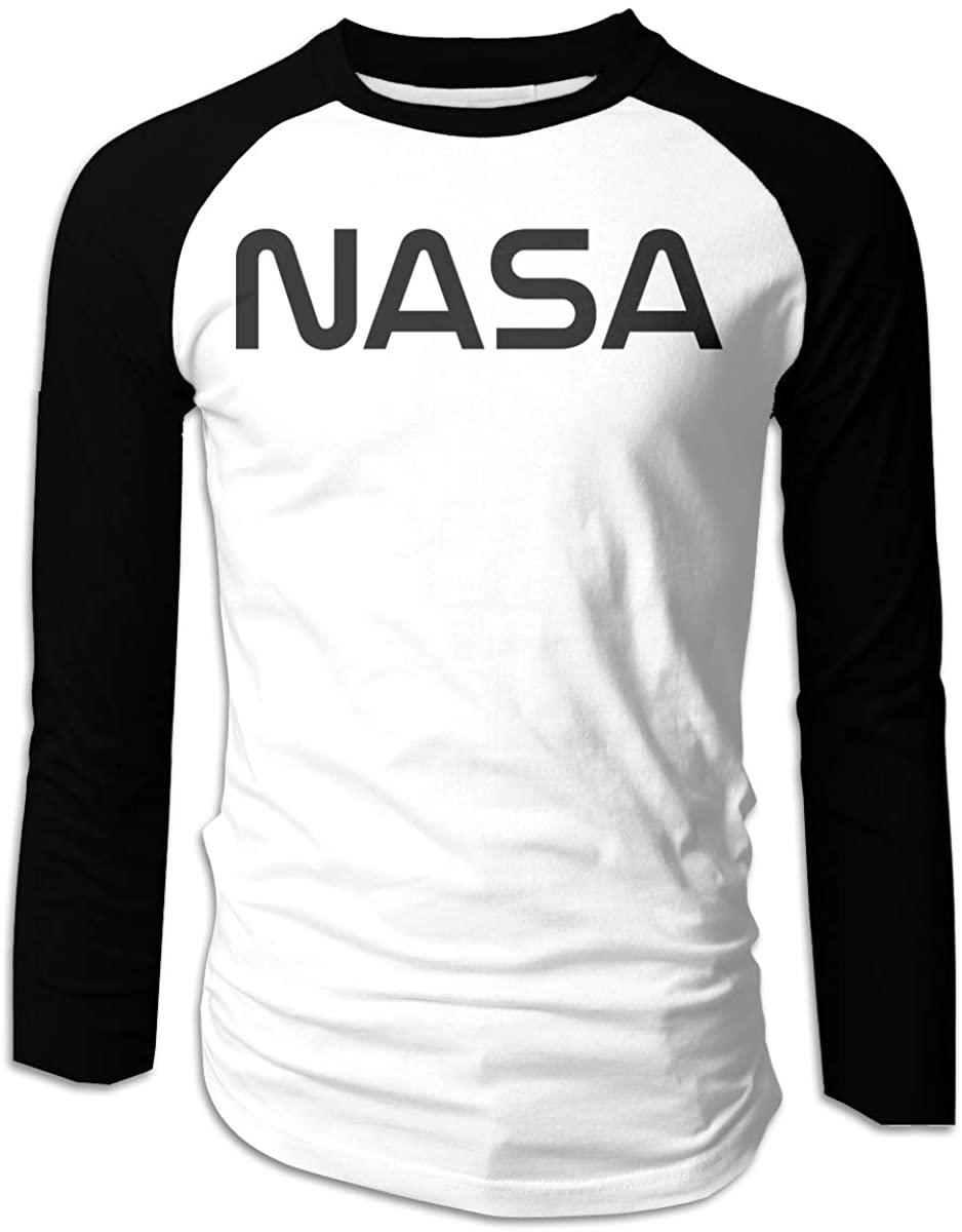 Kemeicle Men's NASA Logo Raglan Sleeves T-Shirts Baseball Tee Shirt
