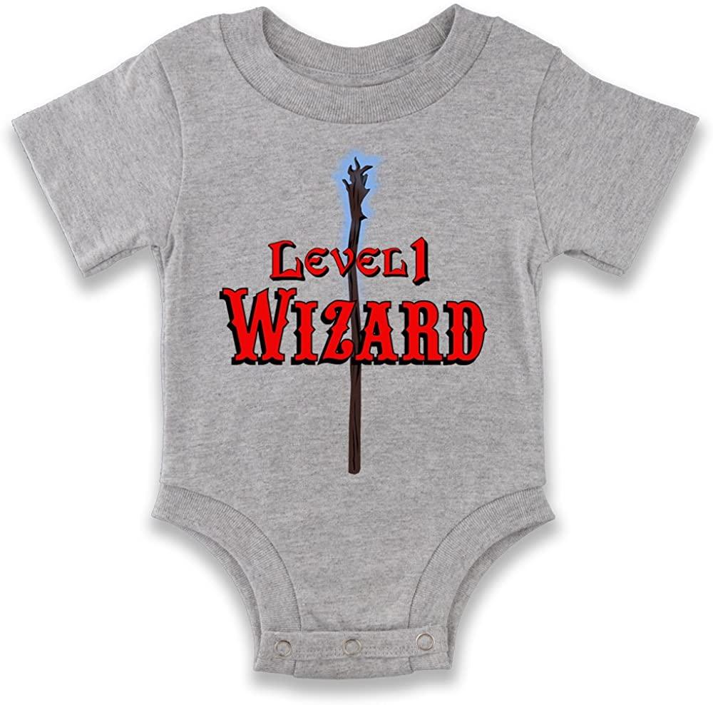 Level 1 Wizard Baby Halloween Costume Infant Baby Boy Girl Bodysuit