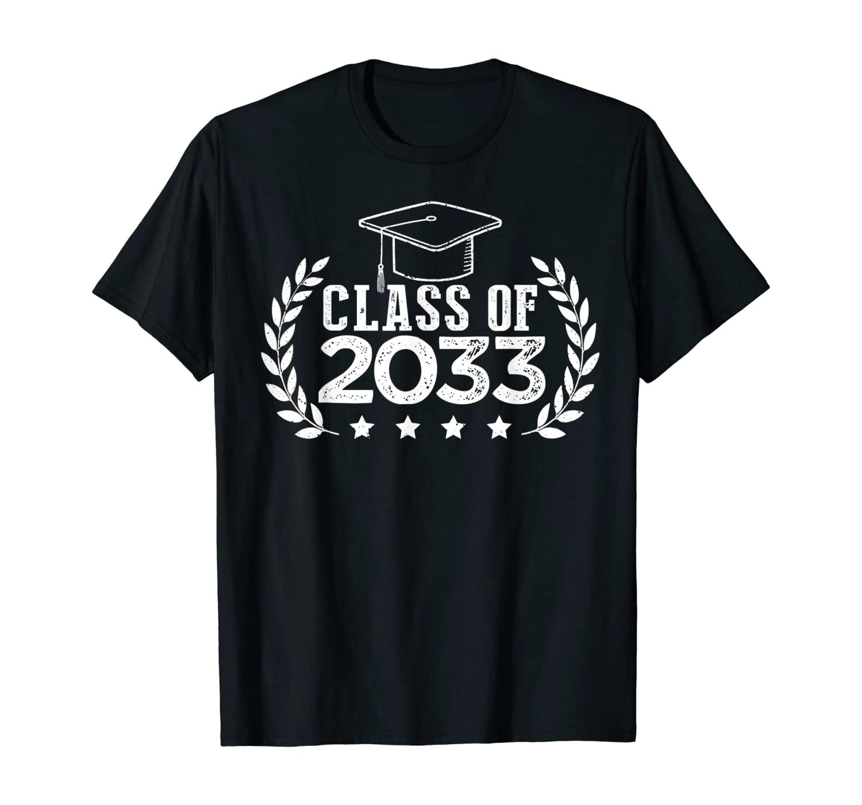 Class Of 2033 Grow With Me Shirt Graduation Kindergarten T-Shirt