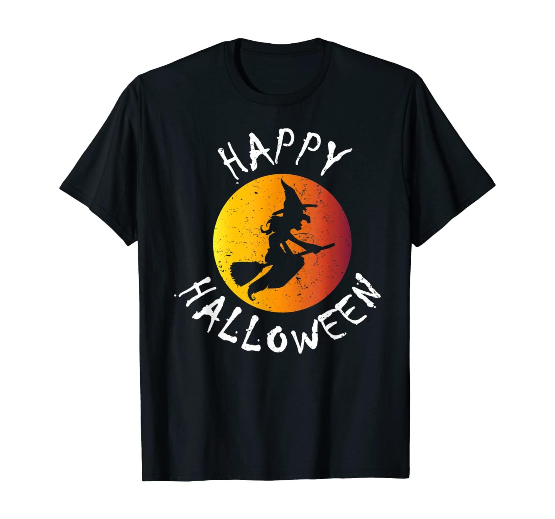 Happy Halloween - Funny Women/Men T-Shirt Cool Witch Tee T-Shirt