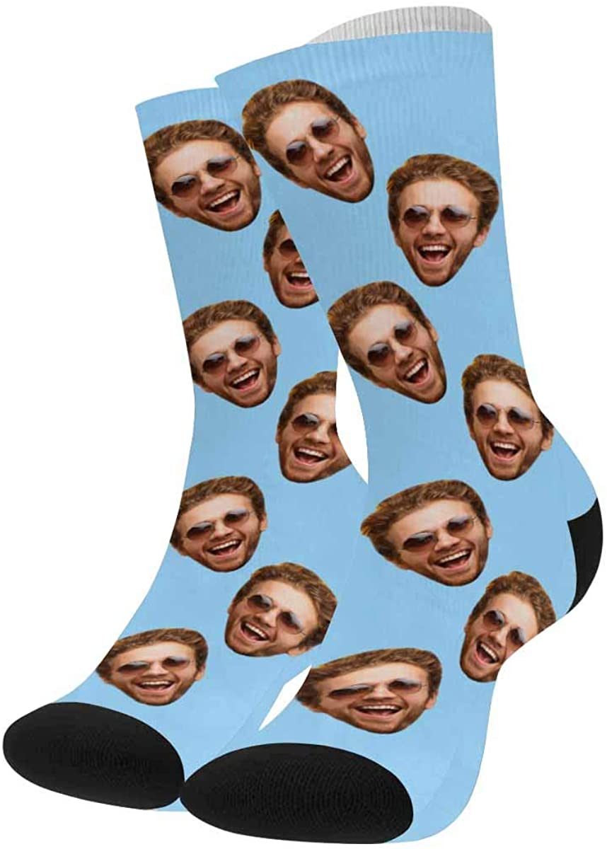 Personalized Socks with Multiple Faces, Customized Your Photo on Novelty Socks with Men's Face