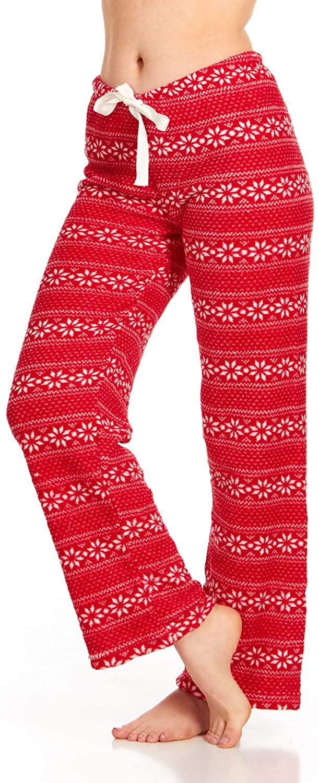 Women's Super-Soft Plush Fleece Pajama Bottoms/Printed Lounge Pants