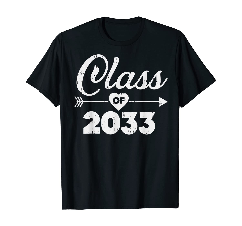 Heart Arrow Class Of 2033 Grow With Me Kindergarten Kid Gift T-Shirt