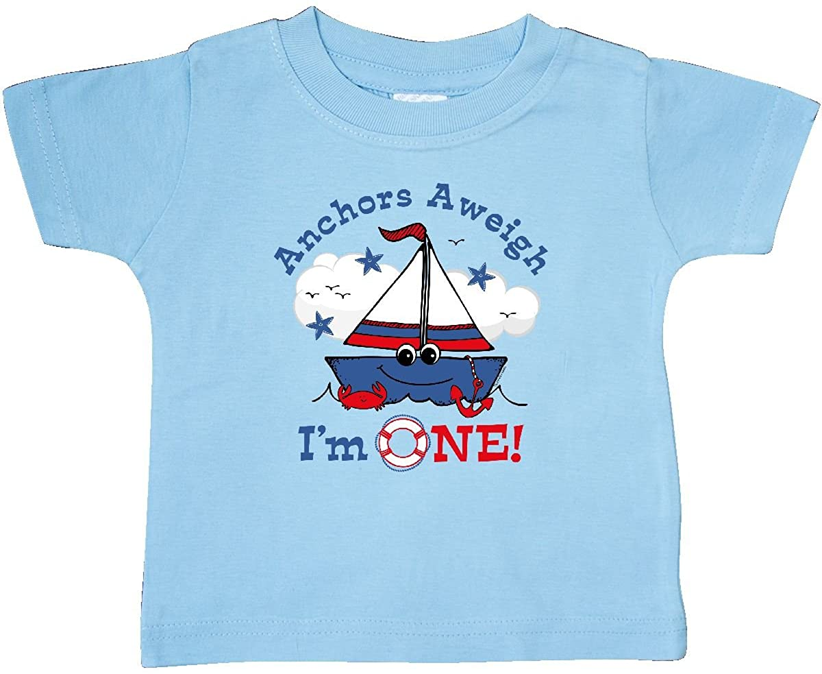inktastic Little Sailboat 1st Birthday Baby T-Shirt