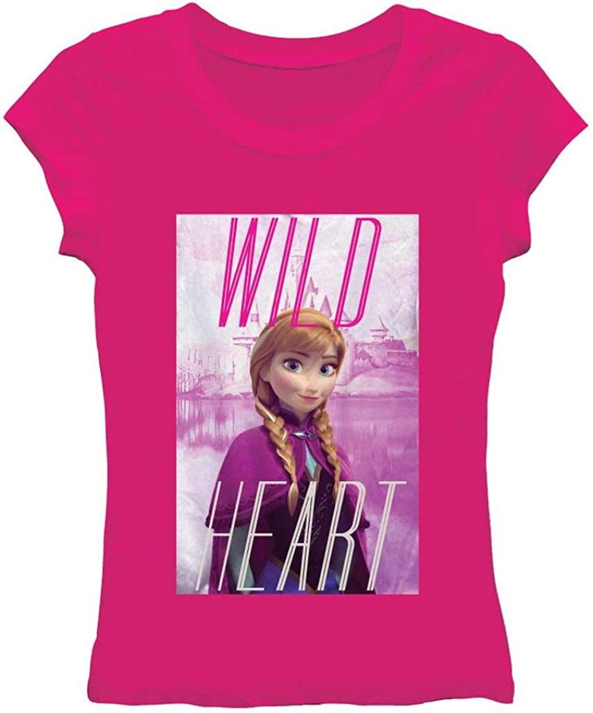 Disney Frozen Wild Heart Juniors Pink T-Shirt | M