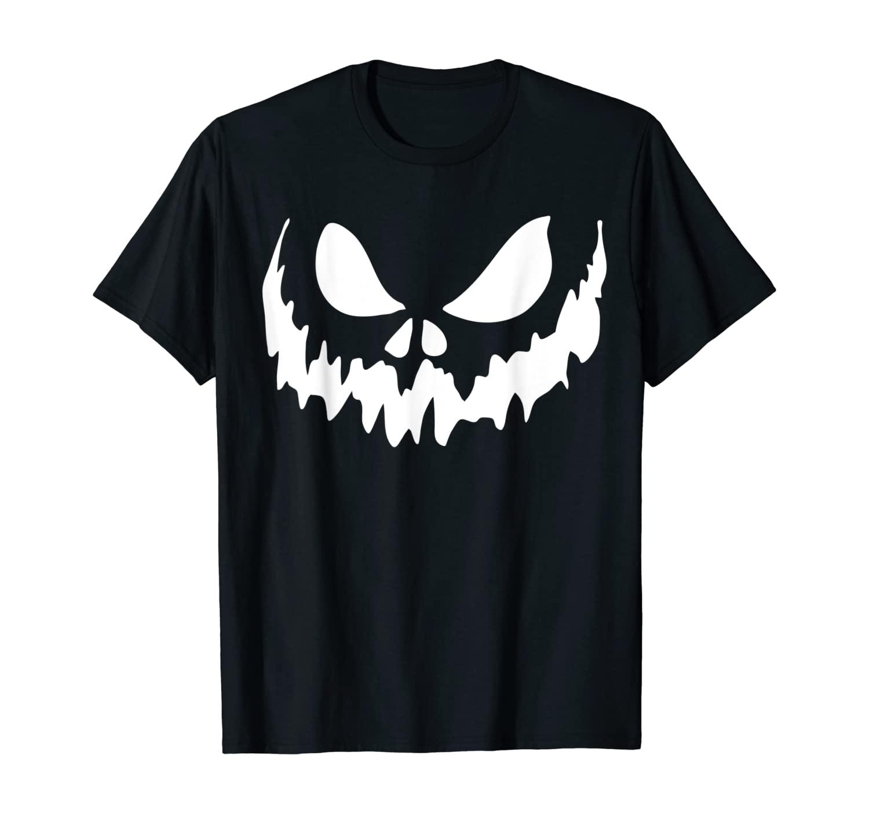 Scary Face Halloween Tshirt   Jack O Lantern Shirt   Pumpkin T-Shirt