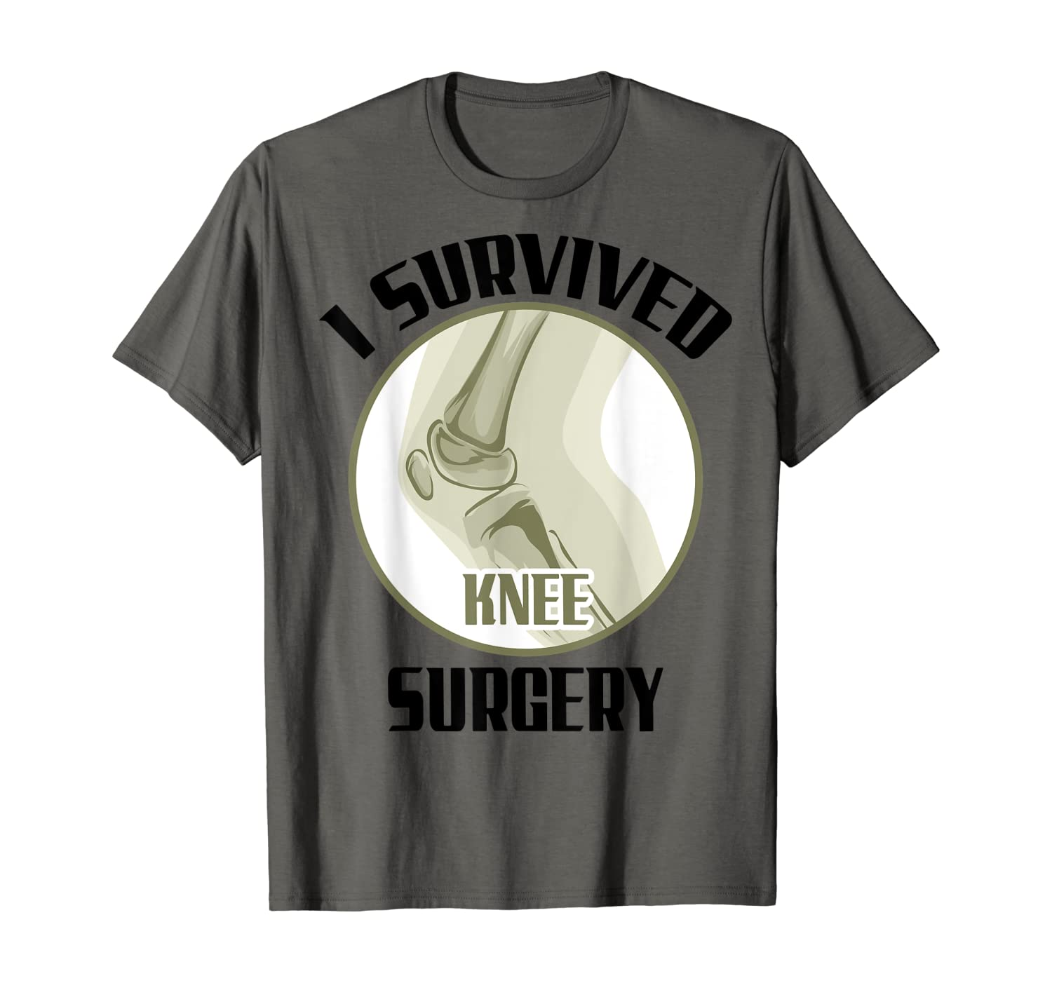 Cute Dainty I Survived Knee Surgery - Recovery Gift T-Shirt