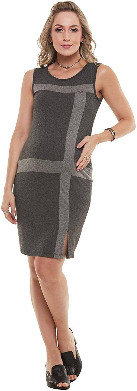 DUE VITA Women's Maternity Short Bodycon Dress