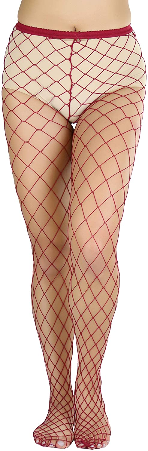 ToBeInStyle Women's Sexy Diamond Shaped Fishnet Pantyhose