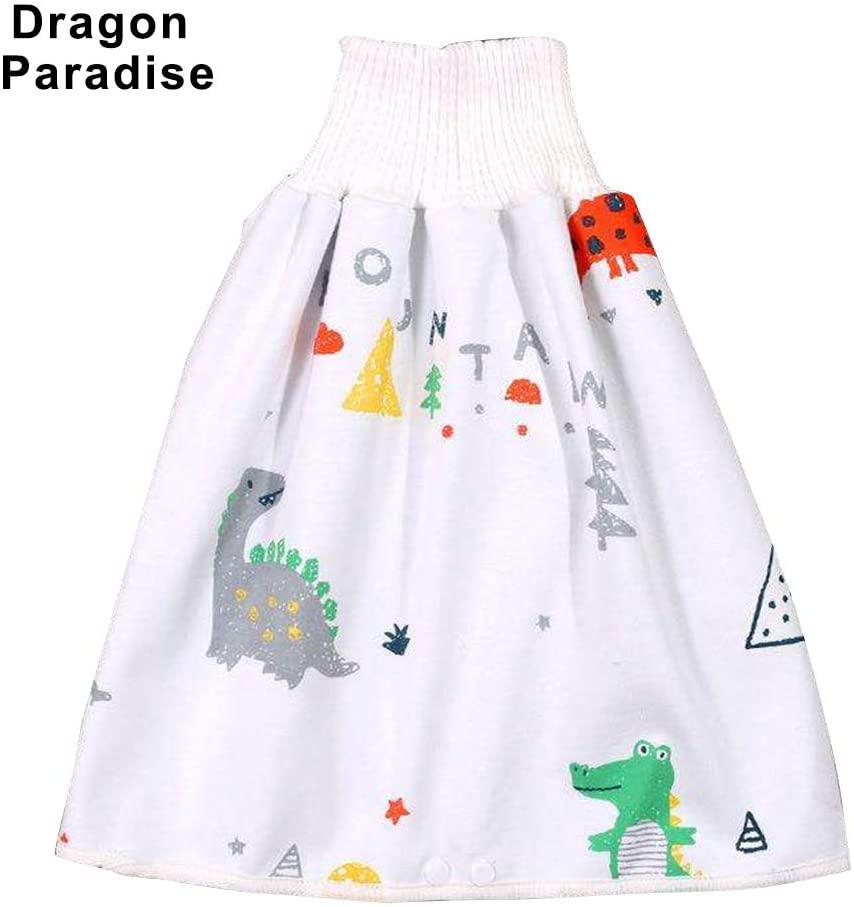 Alexsix Comfy Children Diaper Skirt Shorts 2 in 1 Waterproof Super Absorbent Leak-Proof Washable Baby Diaper Skirt Pants