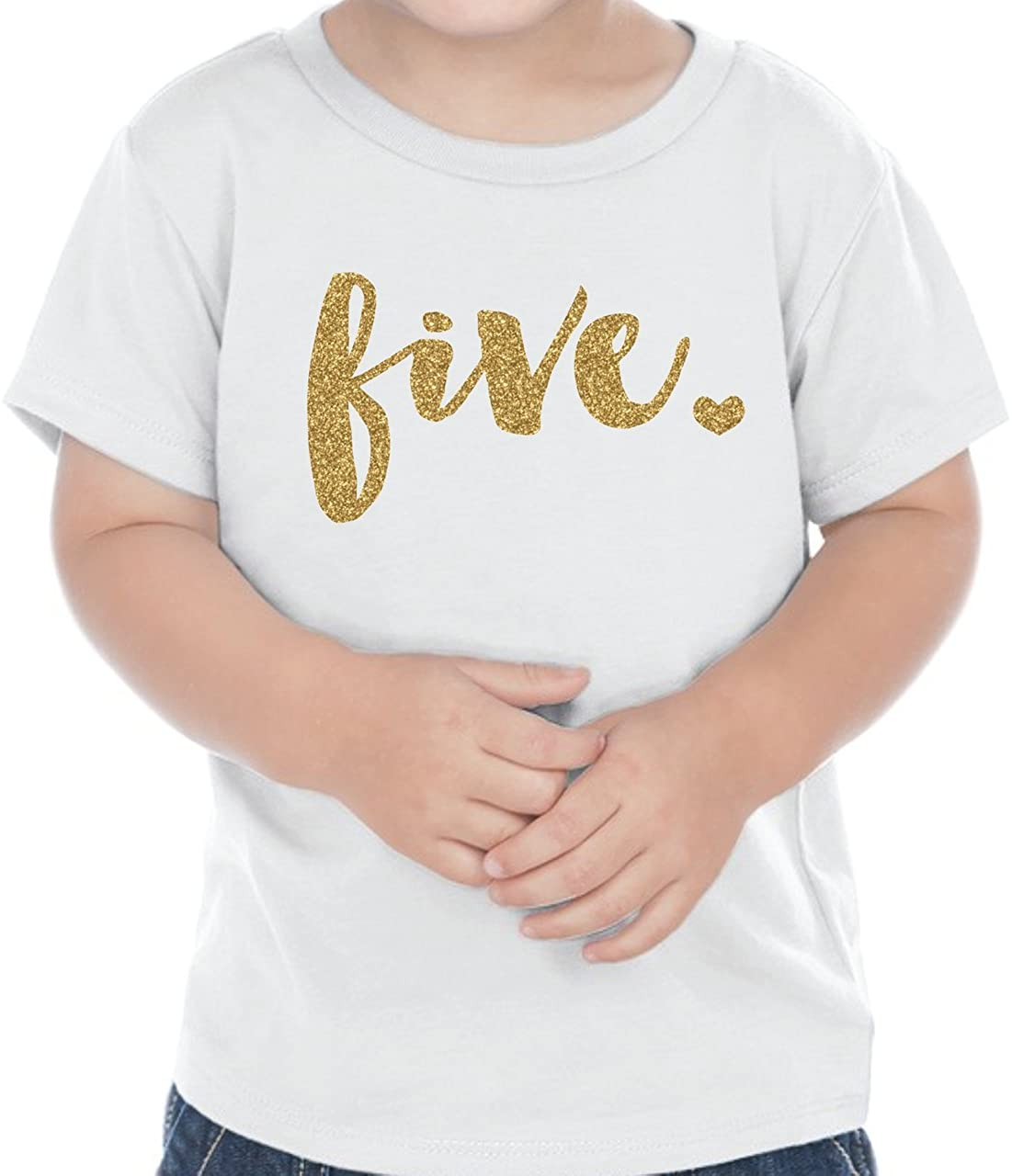 Bump and Beyond Designs Fifth Birthday Outfit Girl Five Year Old Girl Birthday T-Shirt