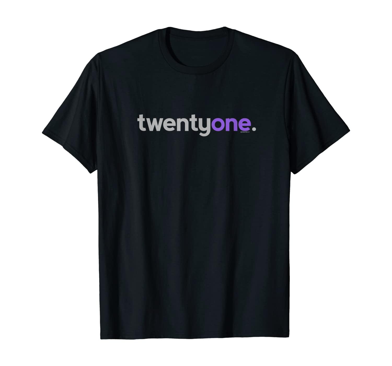 21st Birthday Gift Idea for Her Women | Purple Twentyone T-Shirt