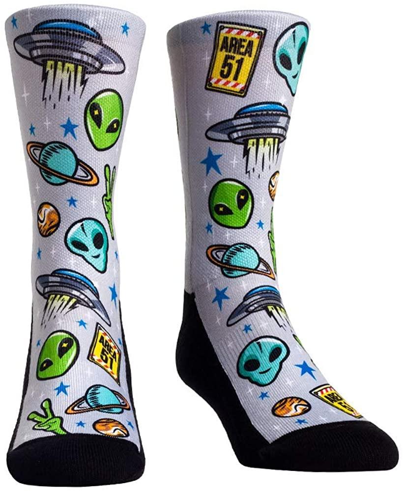 Alien Area 51 UFO Space Invasion Socks