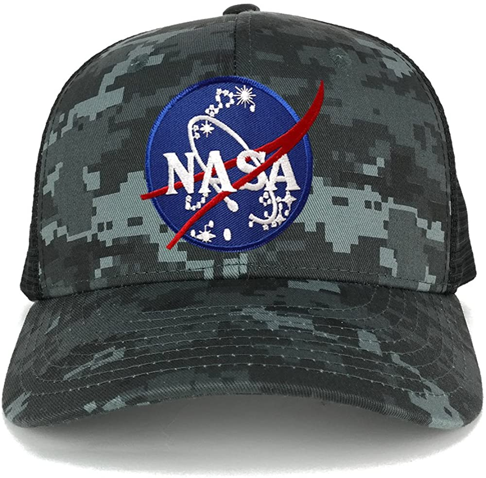 NASA Insignia Space Logo Embroidered Iron on Patch Adjustable Trucker Cap