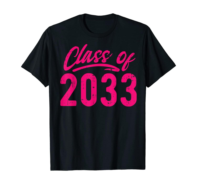 Class Of 2033 Retro Grow With Me Kindergarten Day Kids Gift T-Shirt