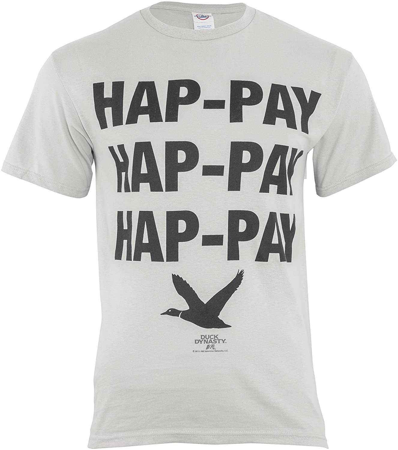 Duck Dynasty Phil Robertson Hap-Pay Hap-Pay Hap-Pay Duck Adult T-Shirt
