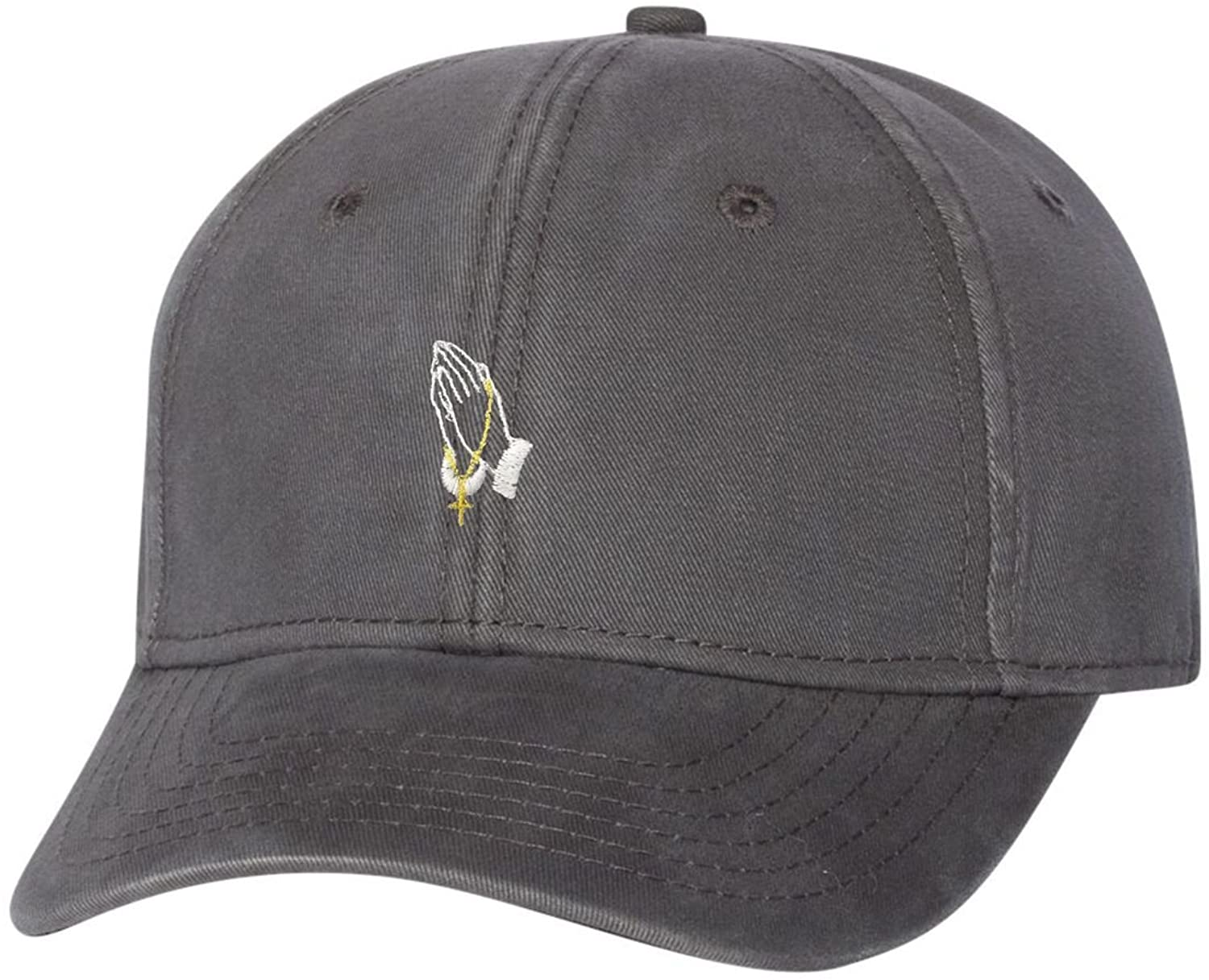 Adult Praying Hands Embroidered Dad Hat Structured Cap