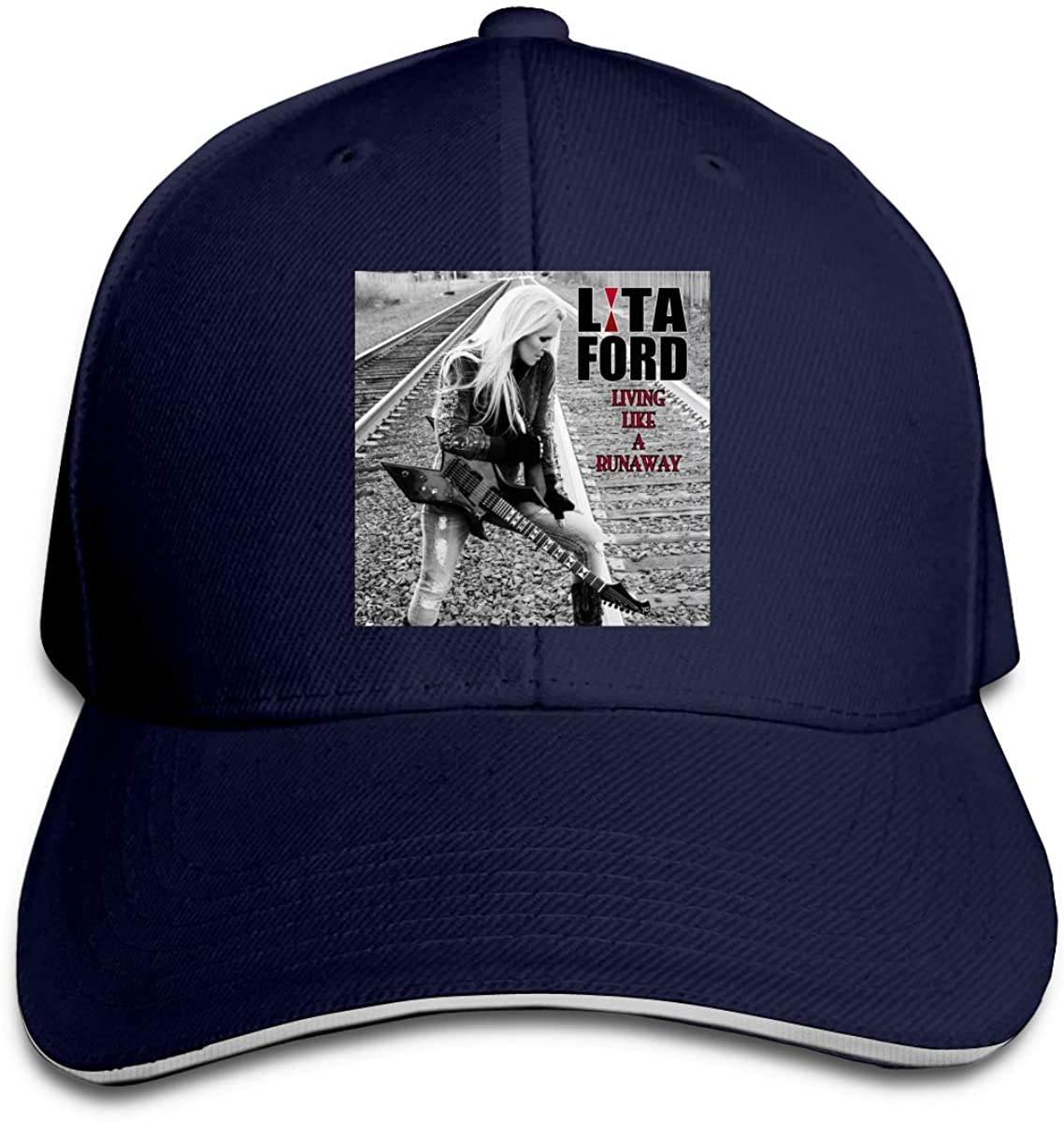 Leephen Unisex Men's Women's Baseball Caps Lita Ford Living Like A Runaway Rock Hats Adjustable Snapback Strap