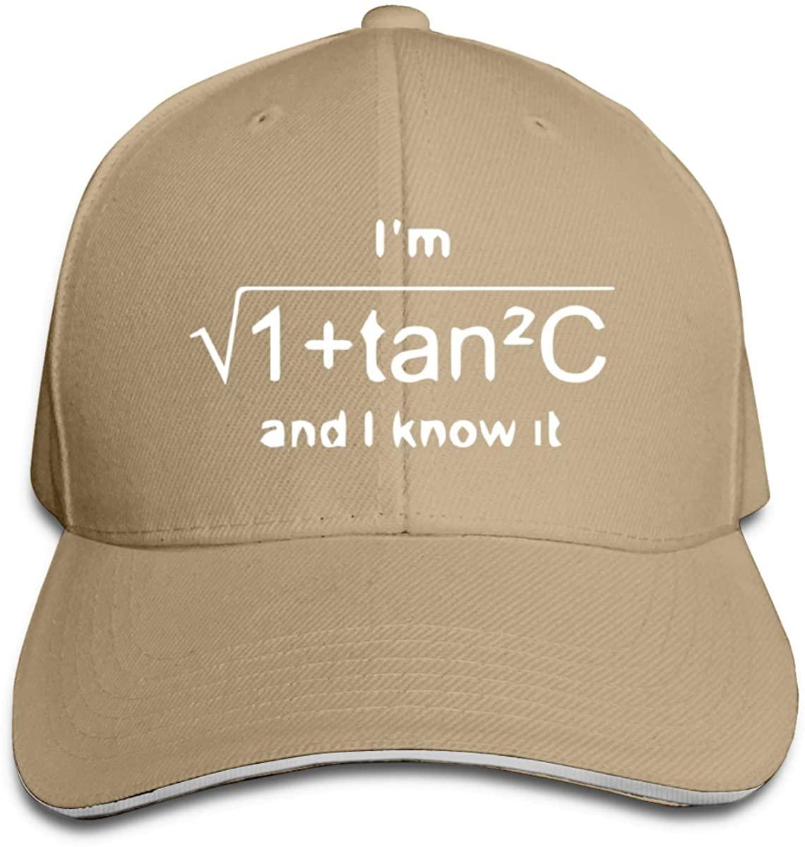 Donmlier Sandwich Hat Classic Funny Math Geometry Quiz Logo Mens&Women Dad Cap Adjustable Unisex
