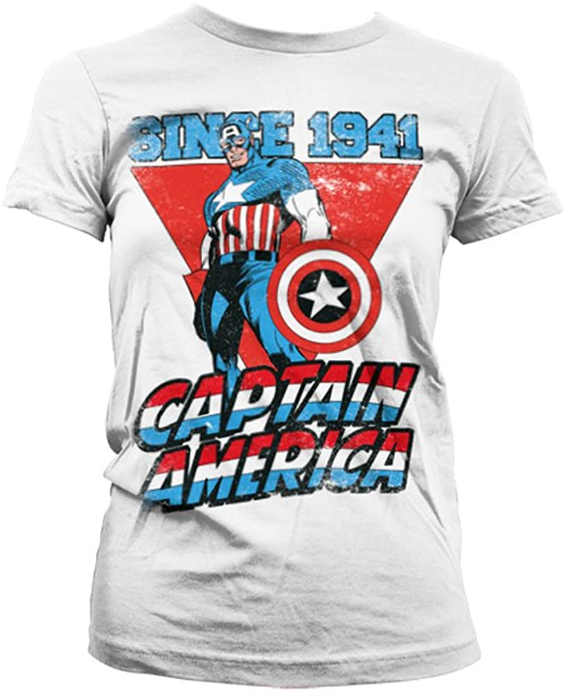 Officially Licensed Merchandise Captain America Since 1941 Girly T-Shirt
