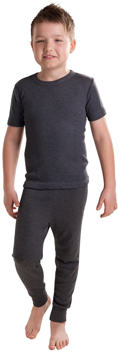 Octave Boys Thermal Underwear Set: Short Sleeve Vest and Long Pants
