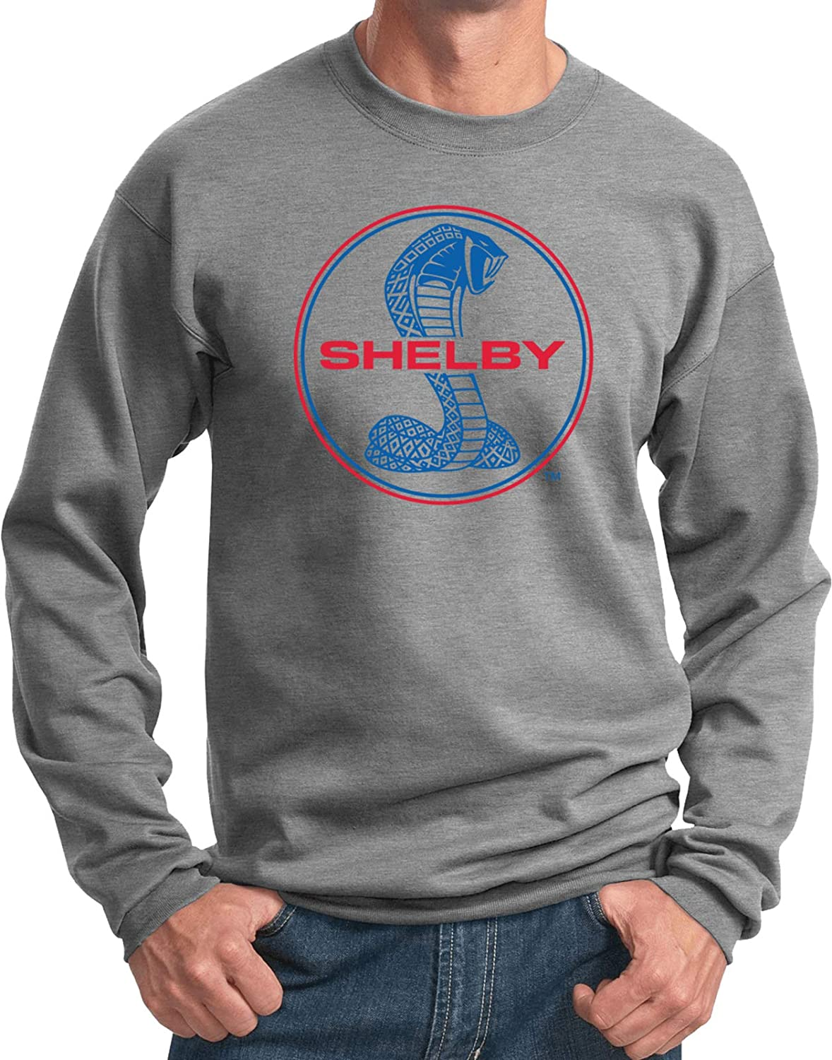 Ford Mustang Sweatshirt Shelby Blue and Red Logo