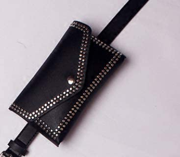 Womens Belt Bag - Fashionable Women's Leather Waist Fanny Pack. This Design has Studded Details, a Belt and Purse That You can wear Seperate or Together a Must Have for Every Wardrobe.