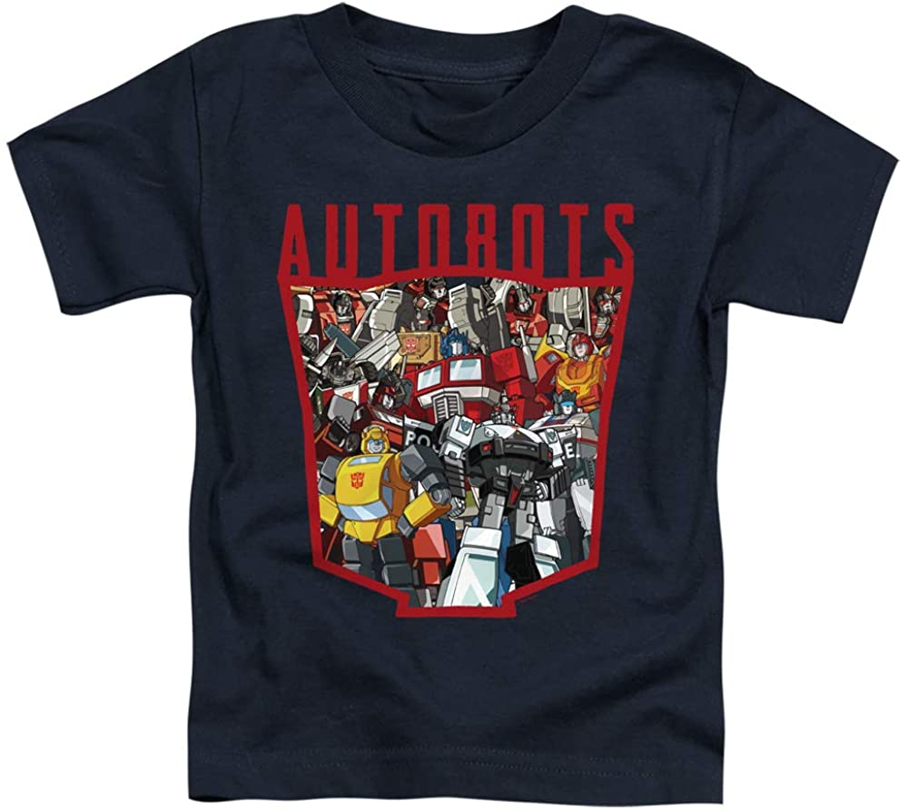Transformers Toddler T-Shirt Autobots Collage Navy Tee