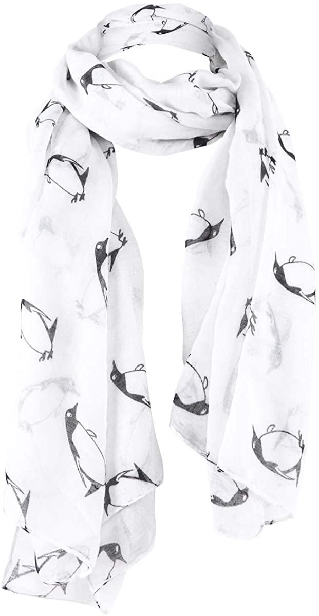 LIVEBOX Women¡¯s Fashionable penguins of Madagascar Print Premium Soft Infinity Voile Scarf Shawl Warp ¡