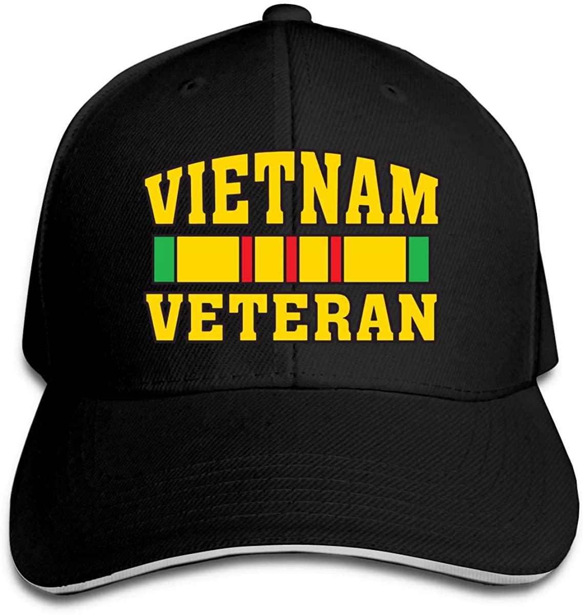Vietnam Veteran Unisex Sandwich Baseball Cap Adjustable Snapback Hat Hunting Casquette