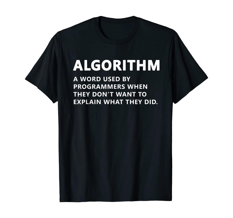 Funny Programmer Algorithm Noun Coding T-Shirt
