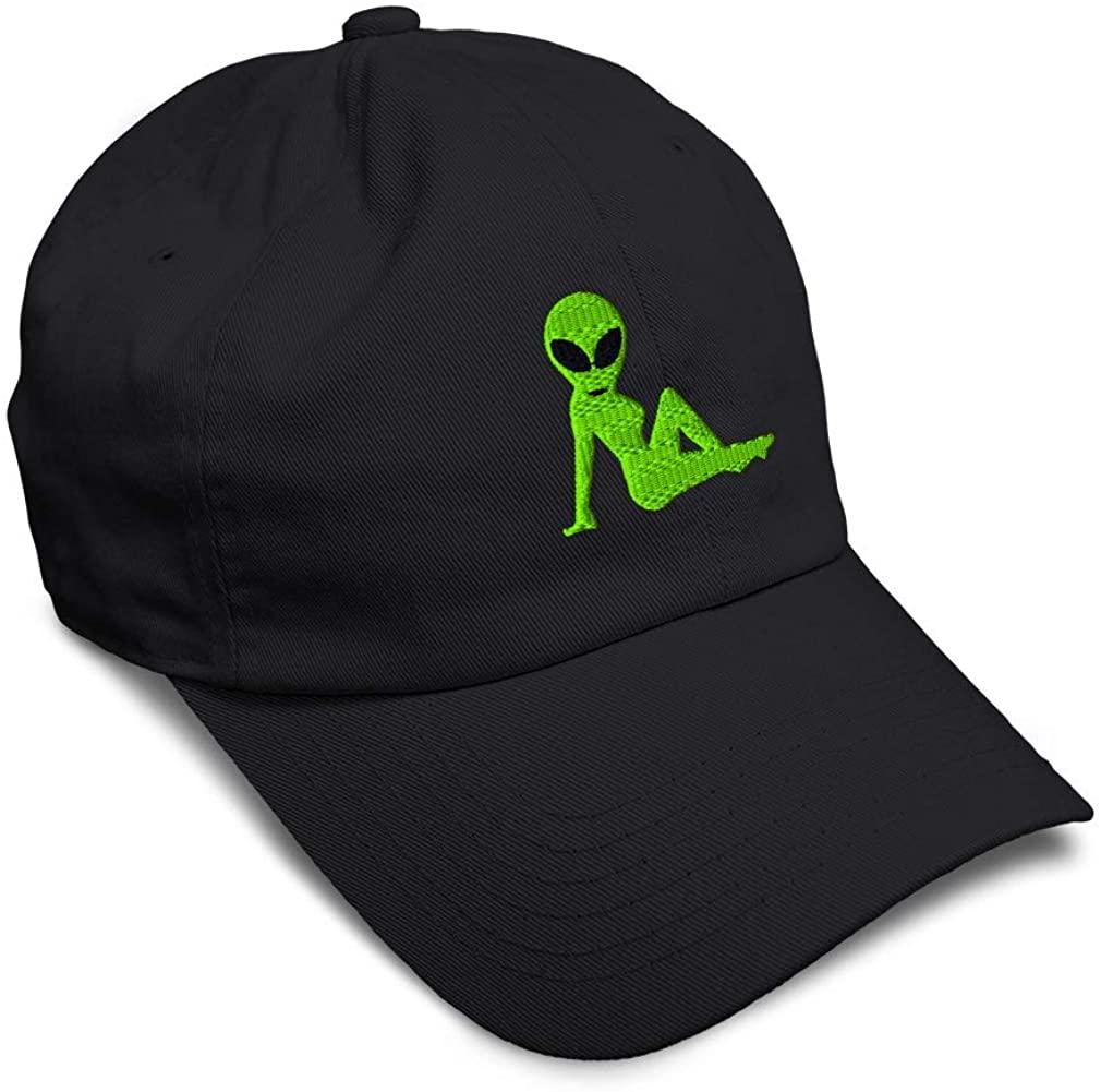 Custom Soft Baseball Cap Sexy Alien Embroidery Dad Hats for Men & Women