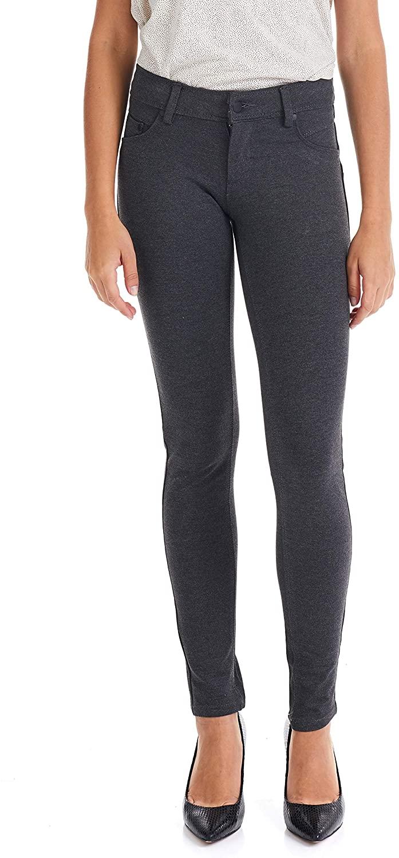 Suko Jeans Women's Ponte Skinny Pants - Zip Fly Button Closure- Stretch