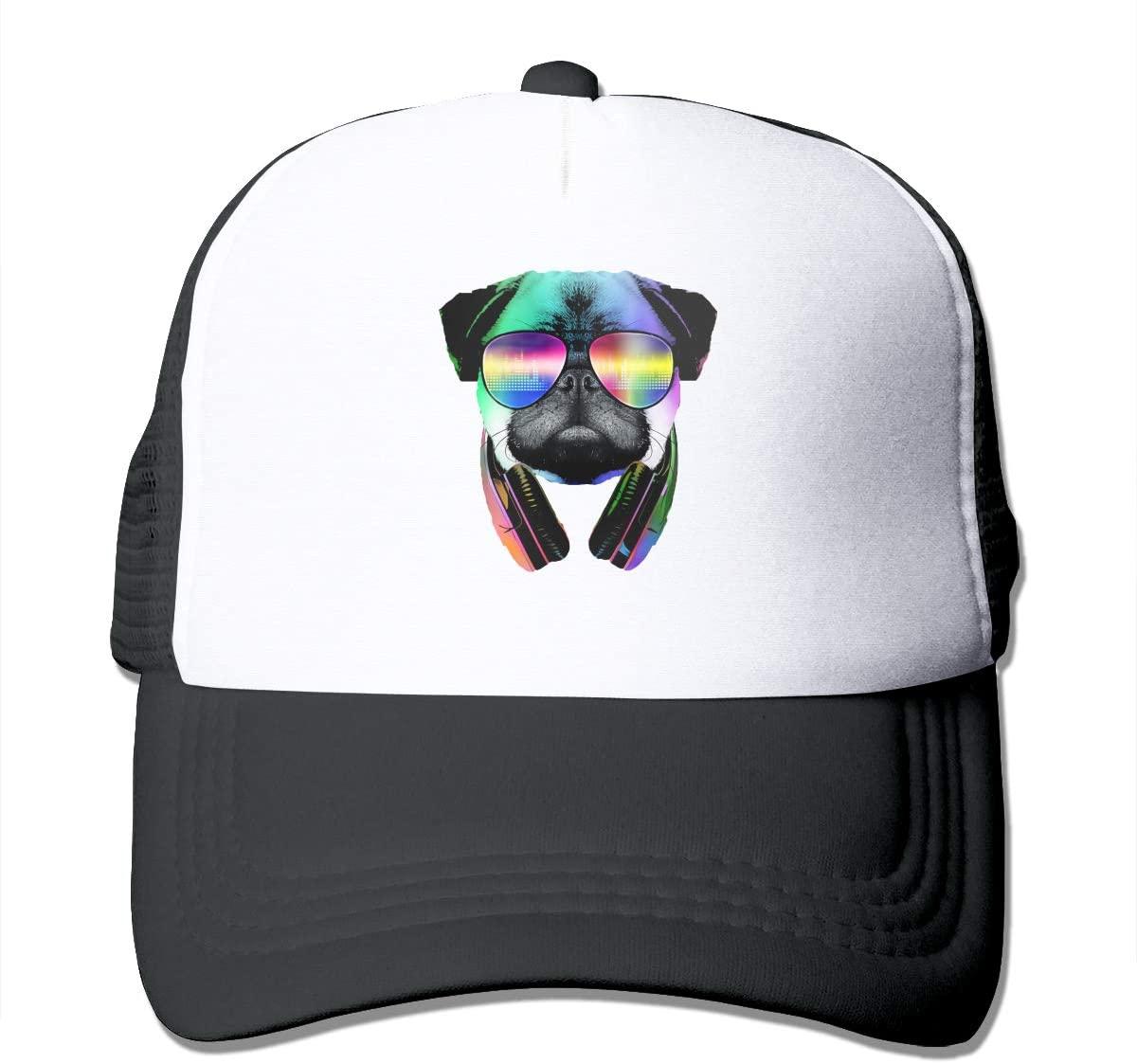 NOT Dj Pug Funny Trucker hat Love Hipster Adjustable Mesh Trucker Hat Baseball Cap