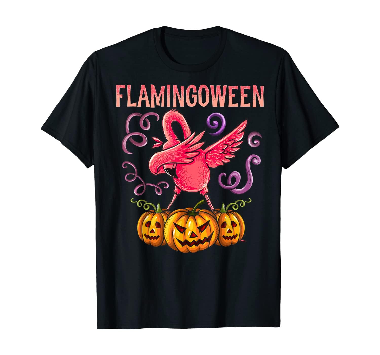 Flamingoween Shirt Happy Halloween Funny Dabbing Flamingo T-Shirt