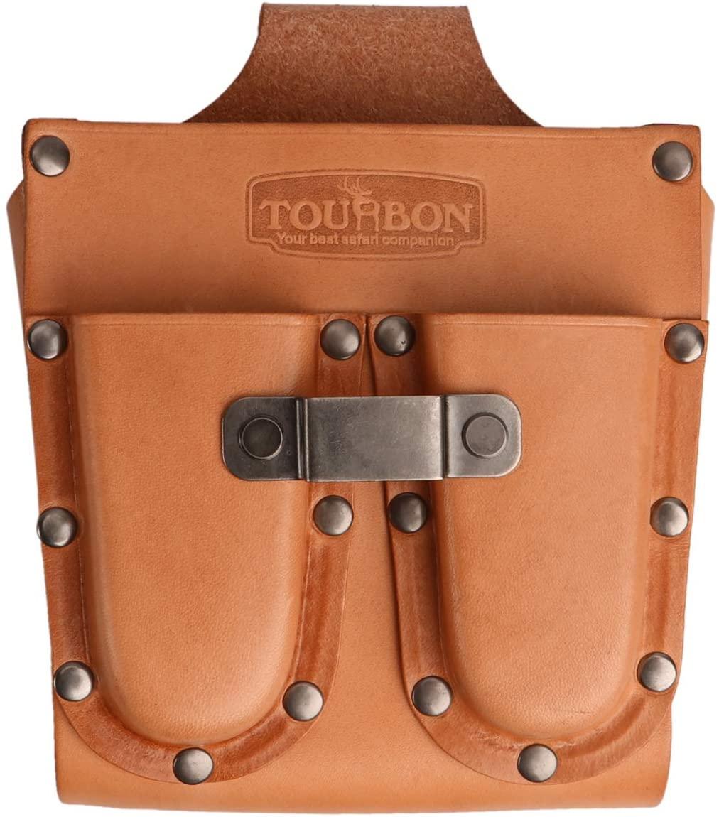 Tourbon Leather Belt Tool Pouch Bag Electrician's Work Organizer