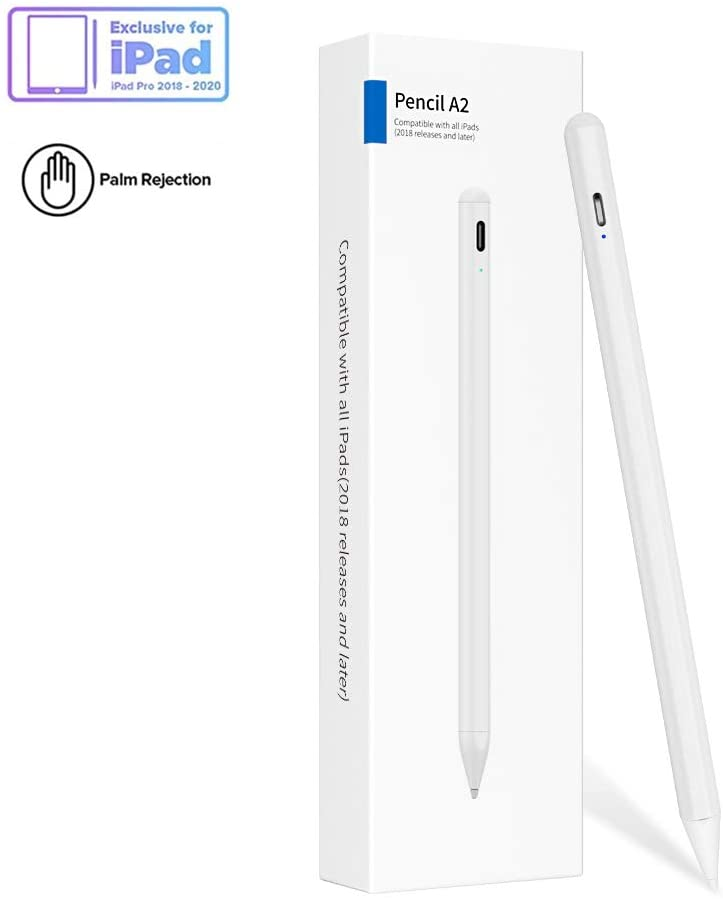Stylus Pen for iPad with Palm Rejection, New Nib Pencil Compatible with (2018-2020) iPad Pro (11/12.9 Inch),iPad 6th/7th Gen,iPad Mini 5th Gen,iPad Air 3rd Gen for Precise Writing/Drawing
