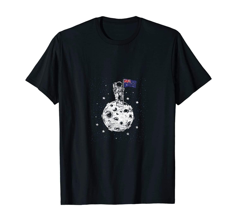 Australia Flag Moon Landing Men Women NASA Astronaut Space T-Shirt
