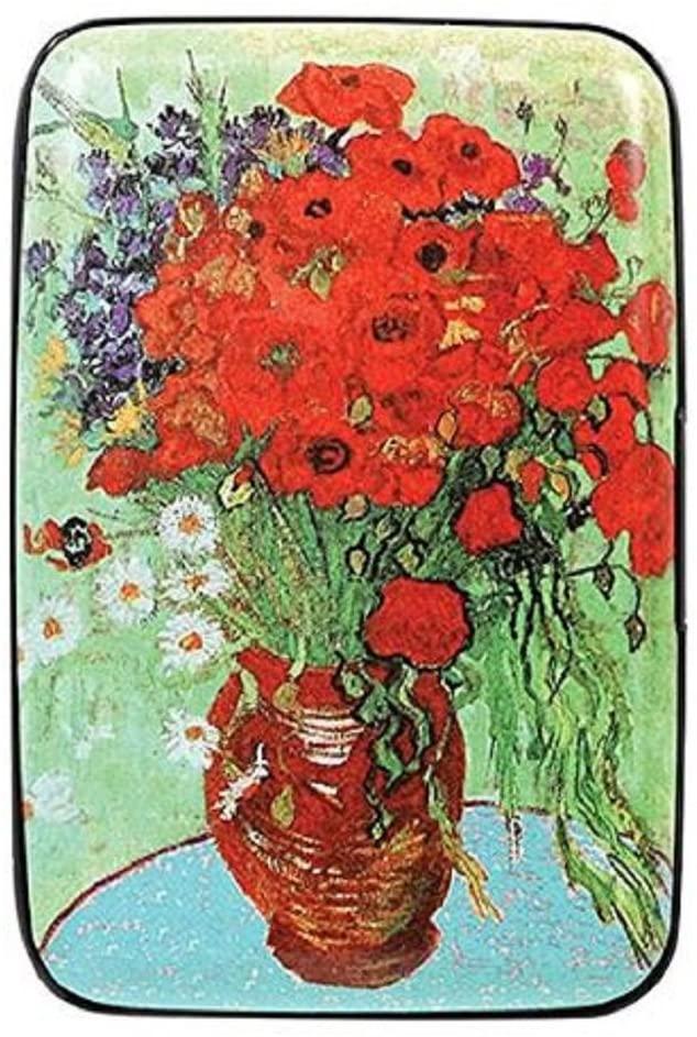 Women's Fine Art Identity Protection RFID Wallet - Poppy Vase