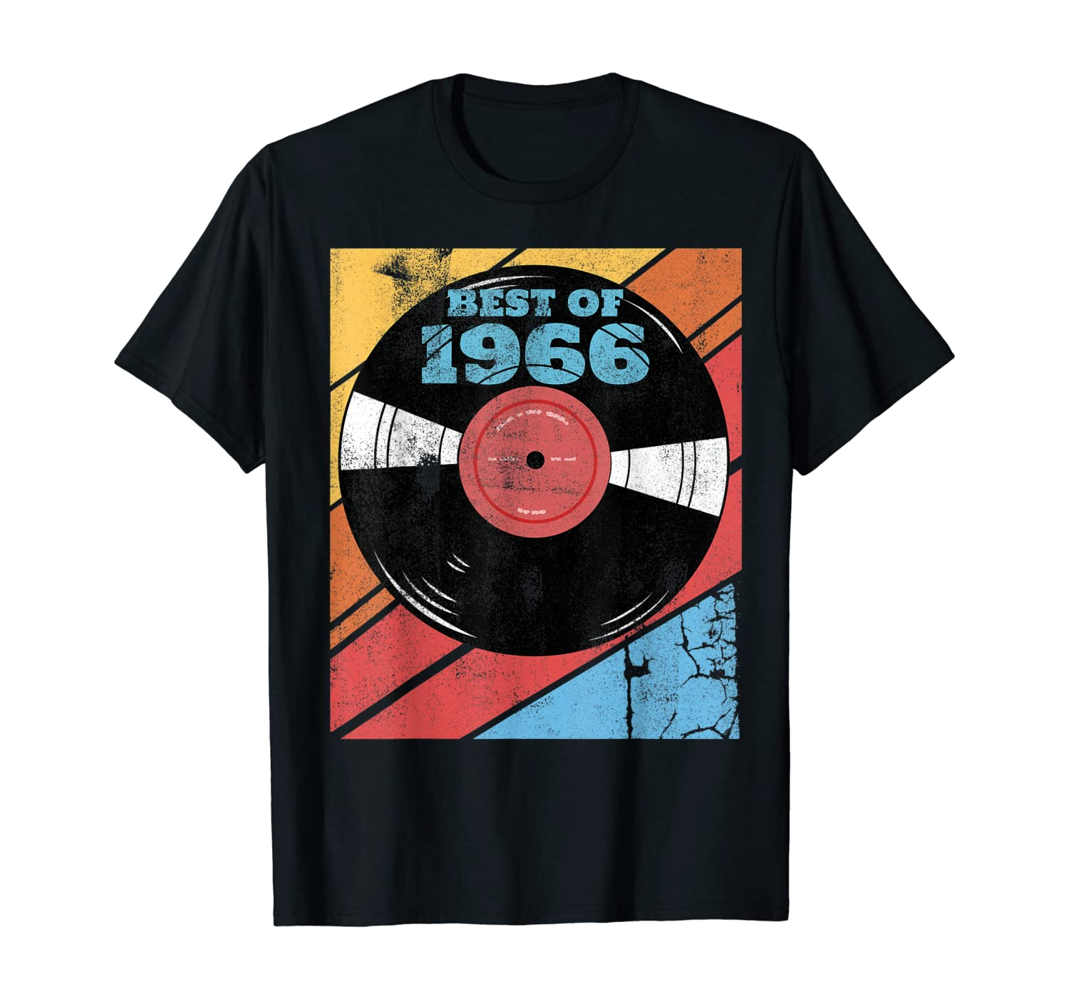Vintage Best Of 1966 54th Birthday Vinyl Record Collector T-Shirt