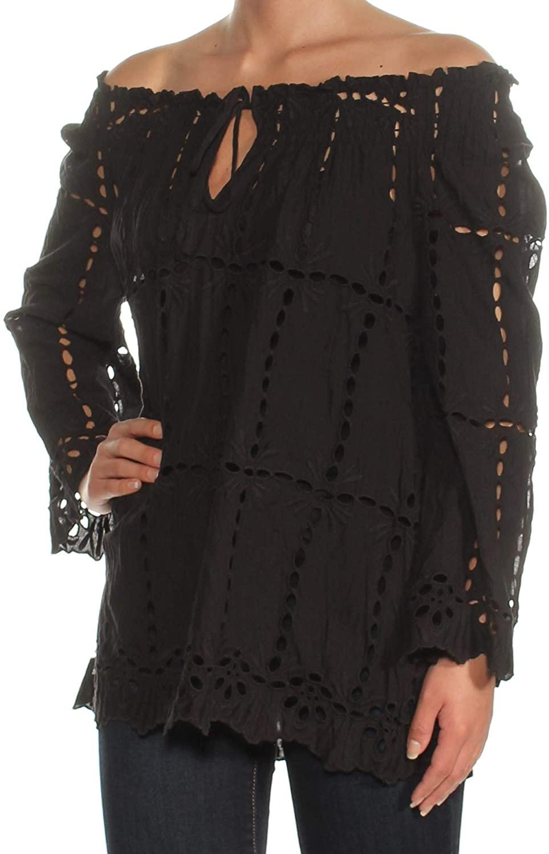 I-N-C Womens Off-The-Shoulder Knit Blouse