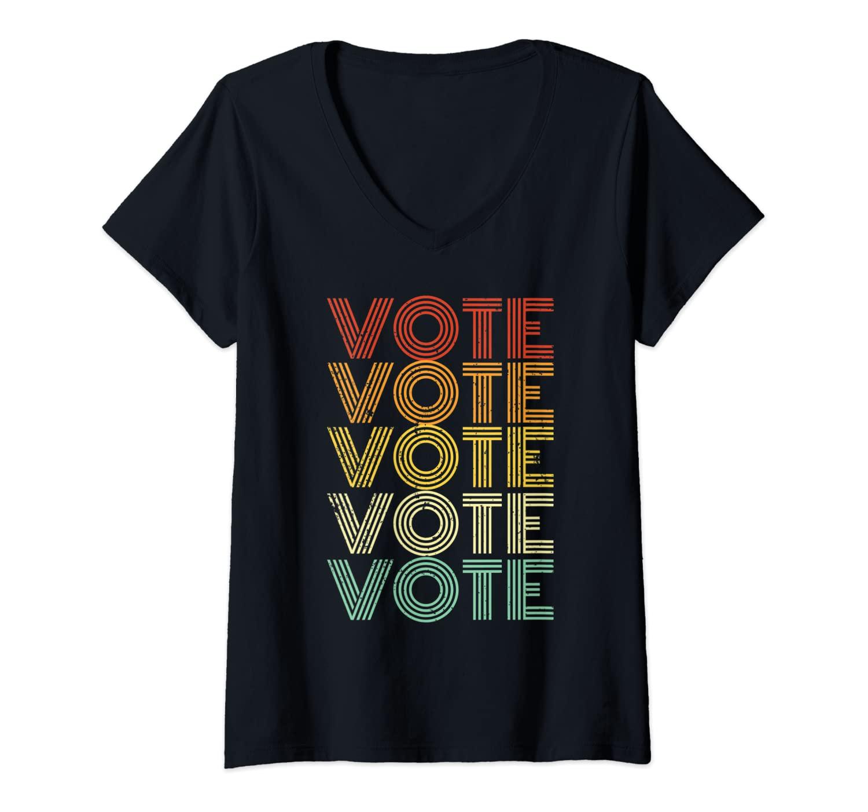 Womens Vote Shirt Men Women 2020 Vintage Vote V-Neck T-Shirt