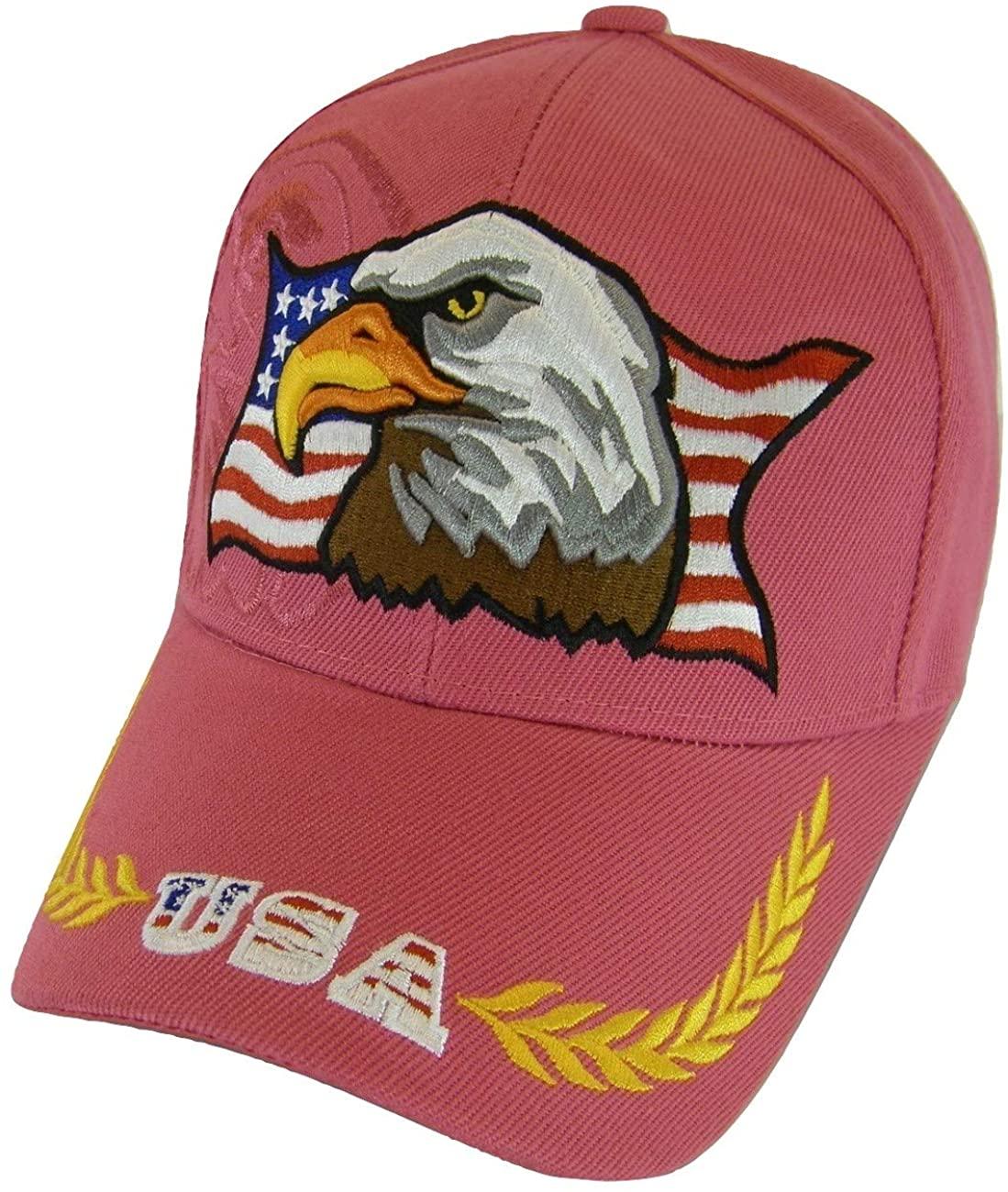 Men's Patriotic Large Eagle USA Adjustable Baseball Cap